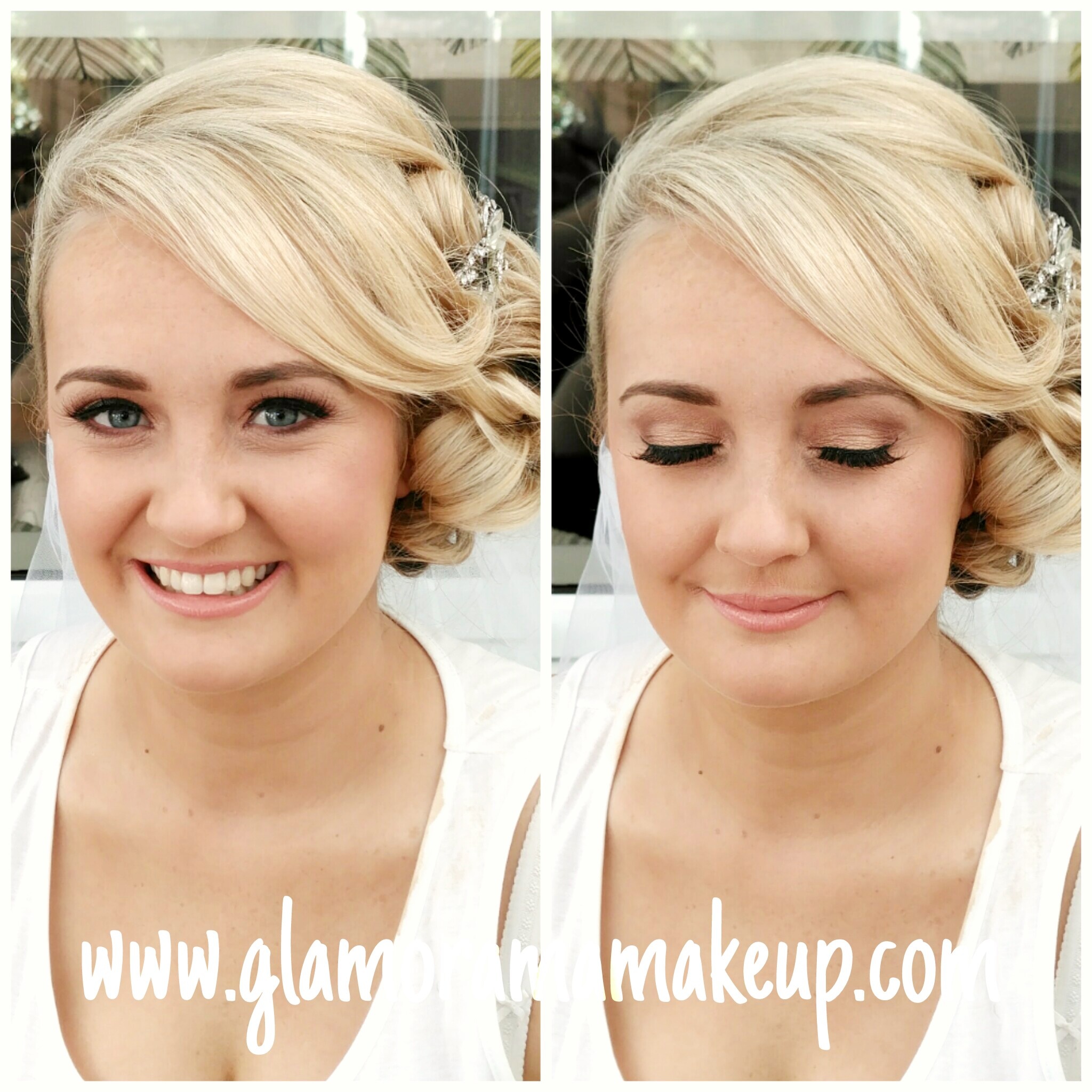 Glamorama Make up wedding lashes liverpool wedding blog
