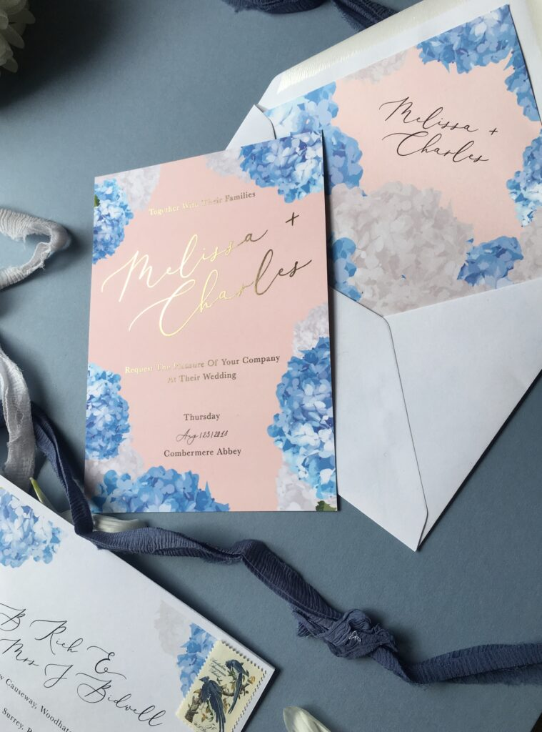 patterned envelopes wedding invites