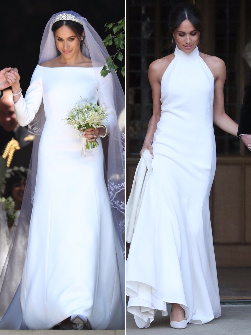 Meghan Markle two wedding dresses
