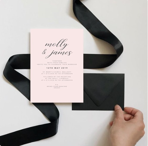 Parisian inspired wedding stationery